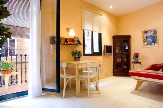 Balcony / Living Room - Apartment BARCELONETA - GOTHIC QUARTER - Ref 62 - Barcelona - rentals