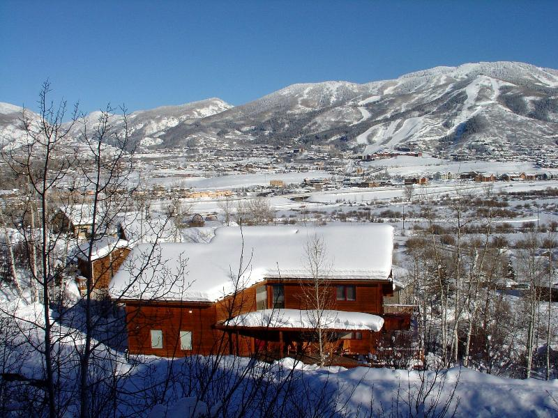 Million dollar views of Steamboat Ski Area - Mtn Views, Wood Fireplace, Hot Tub, Pets Welcome - Steamboat Springs - rentals