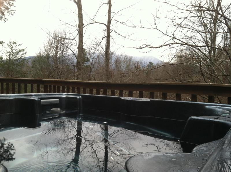 Beautiful Deck View from Hot Tub - 3 Bed/3Bath Luxury Cabin only 3 min. to downtown - Gatlinburg - rentals