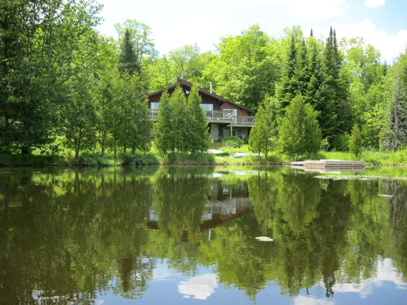 from the lake/summer - SPLENDID Lakefront SKI CHALET , Laurentians - Morin Heights - rentals