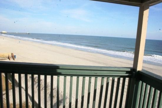 View from Porch-North - Stunning Direct Oceanfront Luxury Condo - Views from 3 windows! - Myrtle Beach - rentals