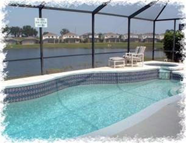 Sunset Vista Lakeside Villa pool, spa and lake view - Sunset Vista Lakeside Villa 4BR with Pool and Spa - Kissimmee - rentals