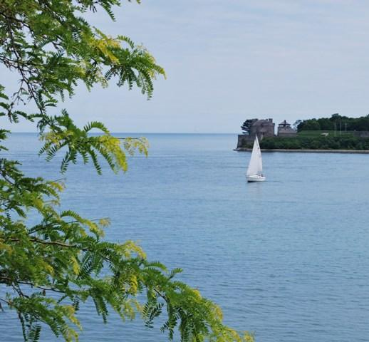 Panoramic View of Fort Niagara from West Wing Balconey - Somerset Bed & Breakfast  Lakefront Manor - Niagara-on-the-Lake - rentals
