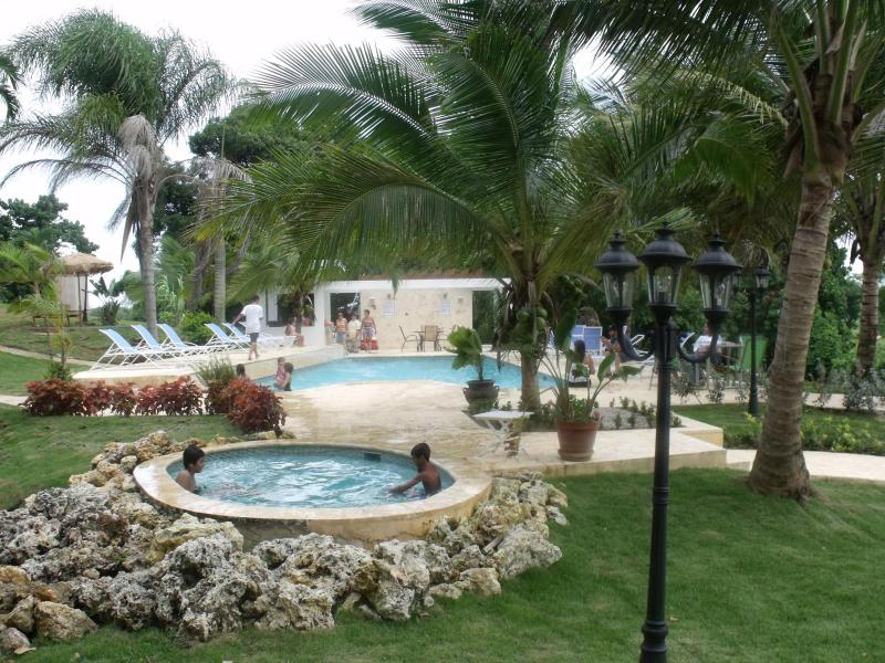 pool and jacuzzi area view from villa bonita 2 (apts 7 & 8) - Apt 7 & 8 at Villa Bonita Sleeps 14 - Isabela - rentals
