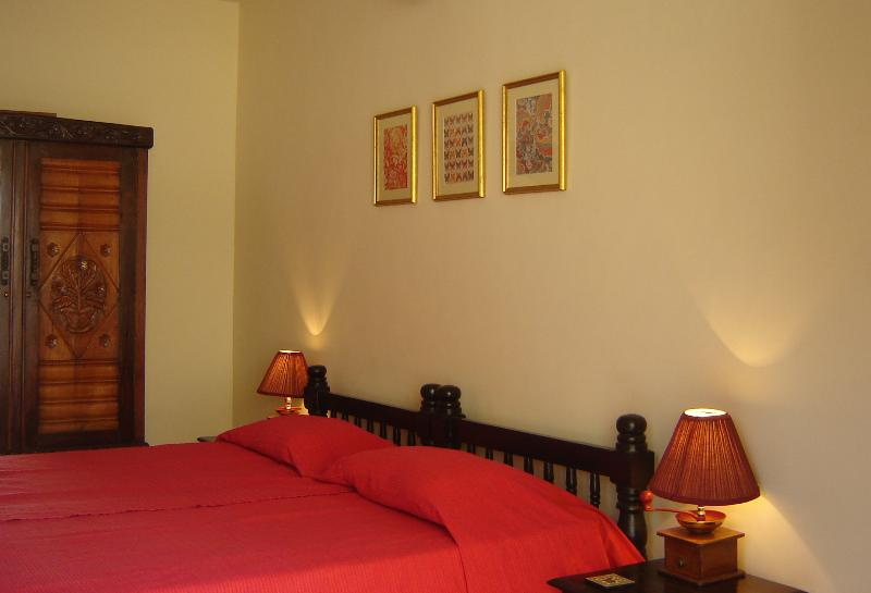 All bedrooms feature antique Goan furniture - Luxurious 3 Bedroom Row Villa  in Goa near Beach - Benaulim - rentals