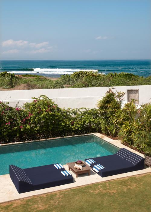 view from bedrooms and balcony. private entrance to the beach. - Beach Front 3 bedroom villa - Canggu - rentals