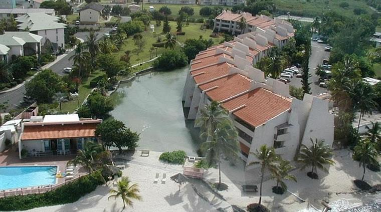 View Of Our Condo From The Air. Note The Pool & Restaurant To The Left. - Firebird's Fancy - 3 BR 3 Bath St. Croix Condo - Christiansted - rentals