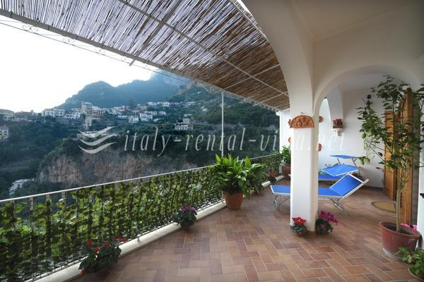 terrace - Le Percochelle - comfort and silence - Positano - rentals