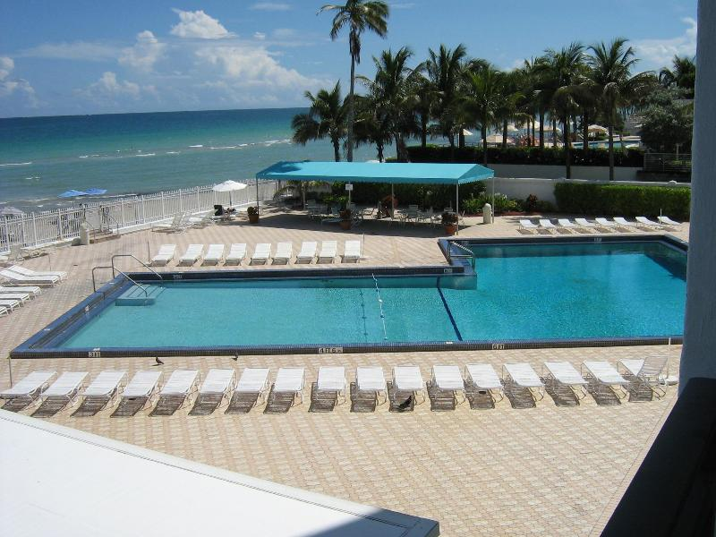 Pool - Luxury Beach Front Condo - Hollywood - rentals