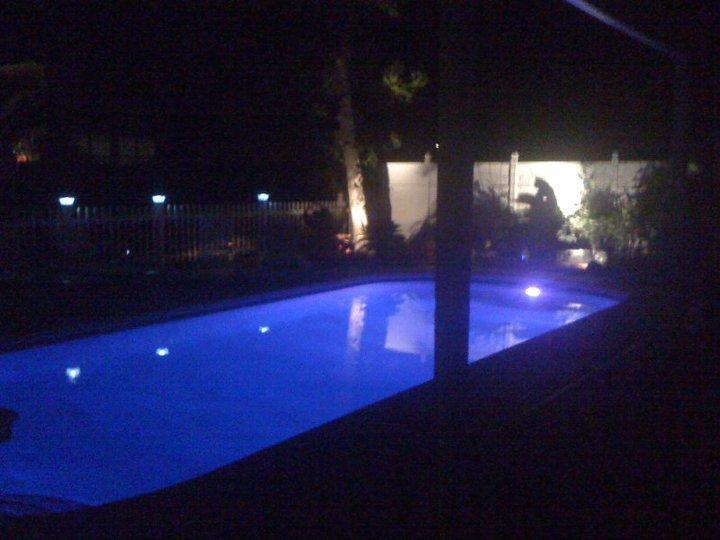 Pool at night - Private Beach Home W/ Pool, 200 Yards to the Beach - Hilton Head - rentals