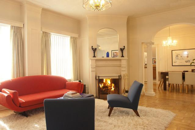 Living room looking toward dining room - Downtown Penthouse w/ Fireplace, Terrace, Hot-Tub - San Francisco - rentals