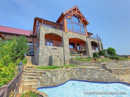 Exterior Pool - Journey's End - Sevierville - rentals
