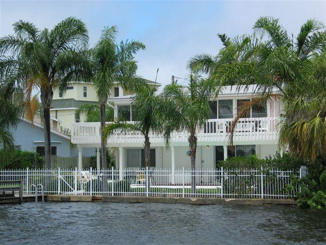 view of back of home from the water - Gulf front  Executive Home 6 week min. - Tarpon Springs - rentals