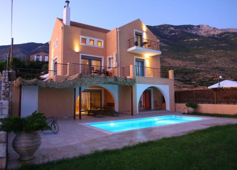 4 People villa with private pool - Erofili Villas-Elegant villa with unique sea view - Lourdata - rentals