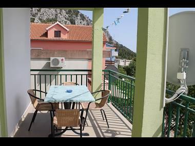 SA1(2+2): terrace - 5802 SA1(2+2) - Gradac - Gradac - rentals