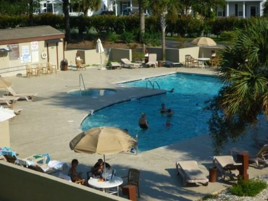 From Front Porch - Main Pool - Great 2Br/2Bath Condo with Indoor & Outdoor Pools and Tennis Courts. - Myrtle Beach - rentals