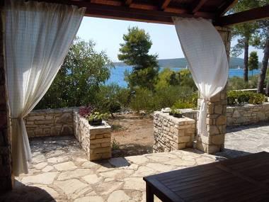 H(6+2): terrace - 5708 H(6+2) - Cove Salbunara (Milna) - Milna - rentals