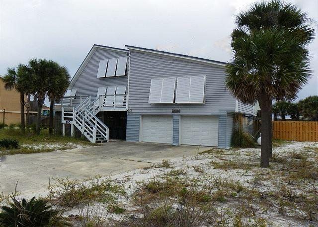 The large driveway is great for parking. The stairs lead to the front door of the home. - Maldonado 810 - Pensacola Beach - rentals