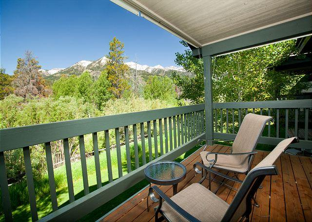 View from upper balcony - Aspen Shadows Cove unit. - Wilson - rentals