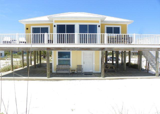 The gulf side of the home has a spacious deck with amazing views. - Ariola 300 - Pensacola Beach - rentals