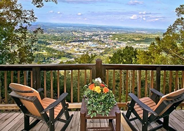 Deck - EAGLE'S VIEW! Amazing 100 Mile Mountain/City View - Sevierville - rentals