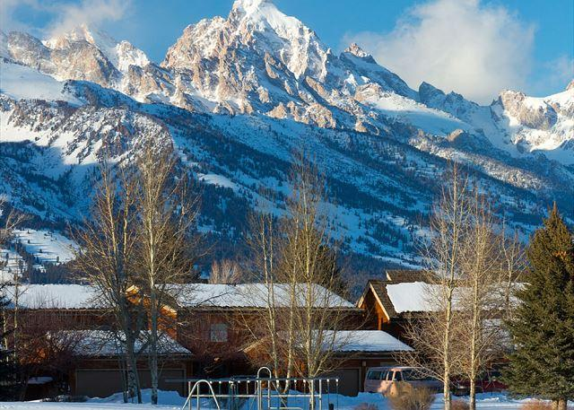 View of the Grand Tetons from Teton Shadows - Teton Shadows 2 bedroom- Close Proximity to Grand Teton National Park! - Jackson - rentals