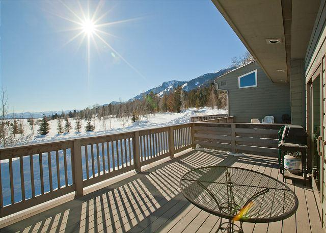 Western view from deck - Timber Ridge in Teton Village - Great Unit for Families or Friends! - Teton Village - rentals