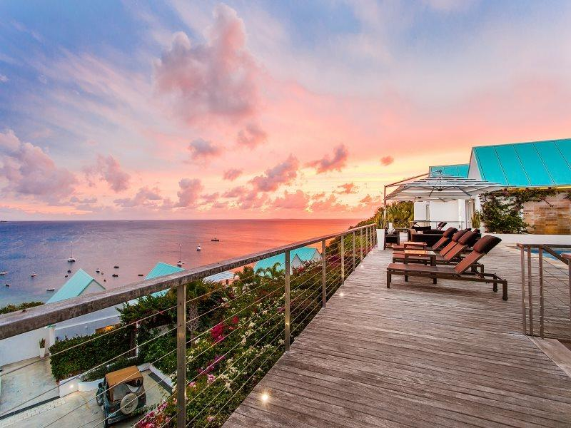 Spacious Deck with Ocean Views  - CéBlue Villas & Beach Resort - Three Luxurious Bedrooms in Crocus Bay with Beachfront Access - Anguilla - rentals