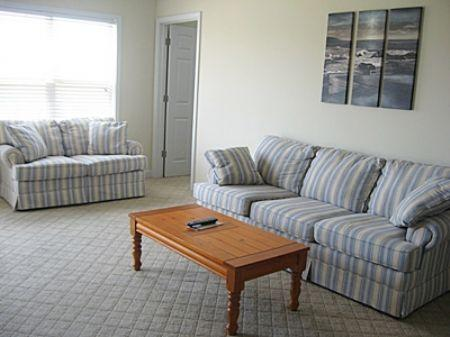 Living Room - OceanWalk 1102 - Oak Island - rentals