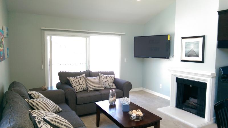 "Living room with 51"" TV - Surf City Beach Condo - Huntington Beach - rentals"