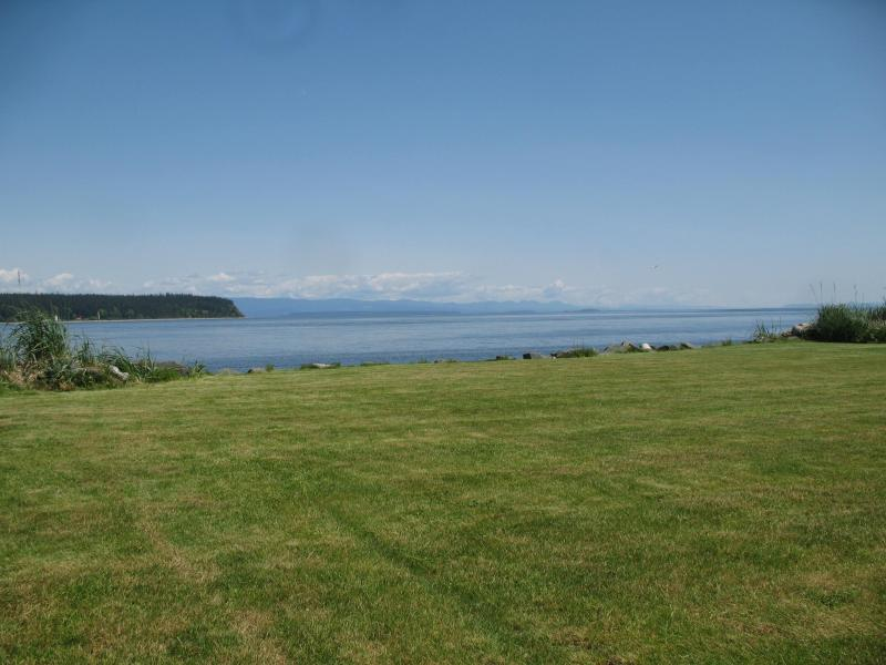 Back Yard - Oceanfront Executive centrally located two bedroom - Campbell River - rentals