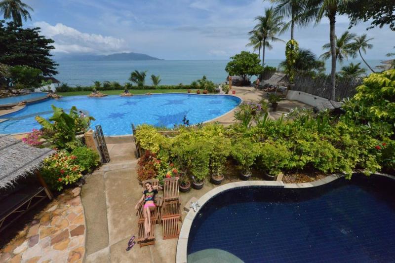 3 bedroom beachfromt villa Pla Laem Koh Samui - Image 1 - Koh Samui - rentals