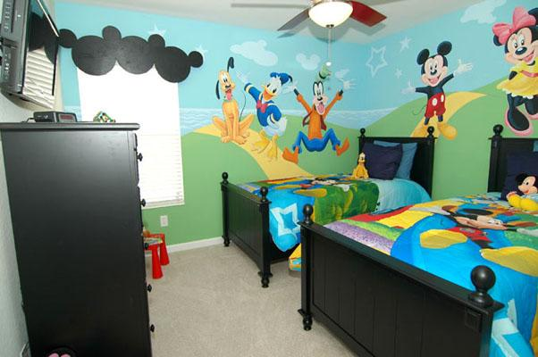 Twin Room -- Mickey & Friends - Promotion (Feb), Themed Rooms, 3miles to Disney - Kissimmee - rentals