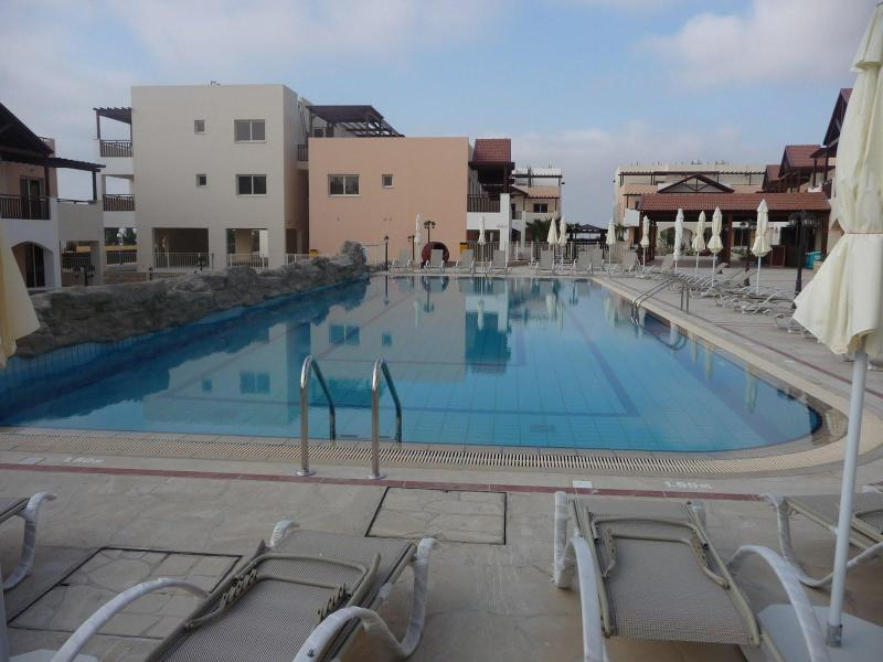 Swimming Pool with Bar in the top right corner - Penthouse Studio Cyprus - Tersefanou - rentals