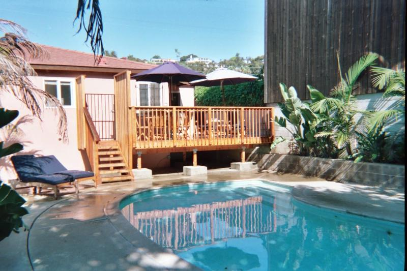PRIVATE DECK,POOL & YARD NONE ARE SHARED - HISTORIC OLD TOWN DISTRICT STUDIO ,POOL & CABANA - Pacific Beach - rentals