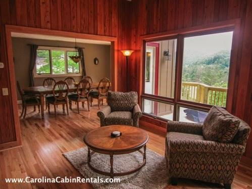 Kings Manor Seating beside View of Blue Ridge Mountains - King`s Manor - Boone - rentals