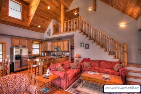 Open Floor Plan with Vaulted Ceilings - Trillium Lodge - Beech Mountain - rentals