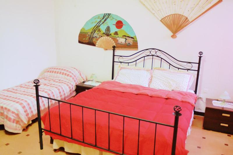 Big bedroom with 1 doublebed and 1 single bed - Two beds private room with yard - Cagliari - rentals