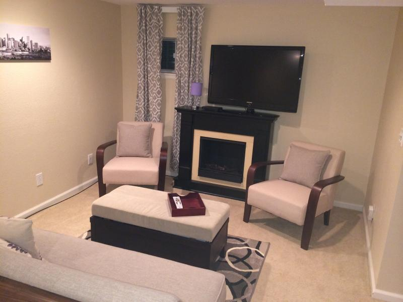 Private living room with directv - Finished Basement is All Yours - Westminster - rentals