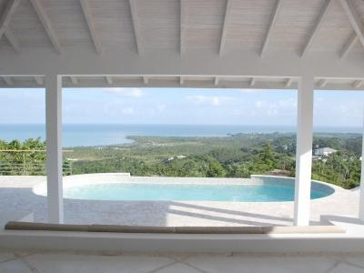 Overlooking palm trees and the ocean. - VillaNoria Blanca, Fantastic Views and Privacy - Las Terrenas - rentals