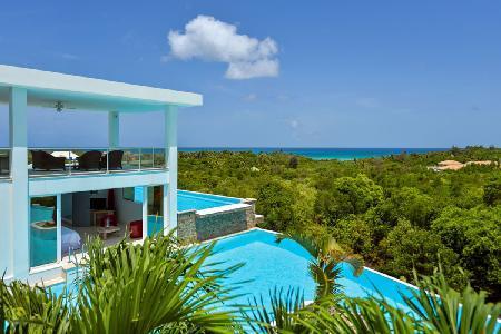 Grand Bleu - 2 level, villa features 2 pools, tropical surroundings & sunset views - Image 1 - Terres Basses - rentals