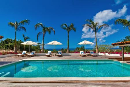 Hacienda - Fantastic villa offers pool, sunset views & tropical landscaping - Image 1 - Terres Basses - rentals