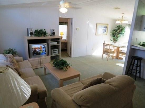 Open living, dining and kitchen - Affordable 2 Bedroom Home in Palm Key - Davenport - rentals
