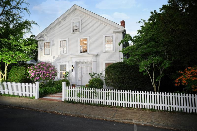 Front of House - LAZEP - Berkshire House, Elegant in Town Greek Revival, Completely Renovated - Vineyard Haven - rentals