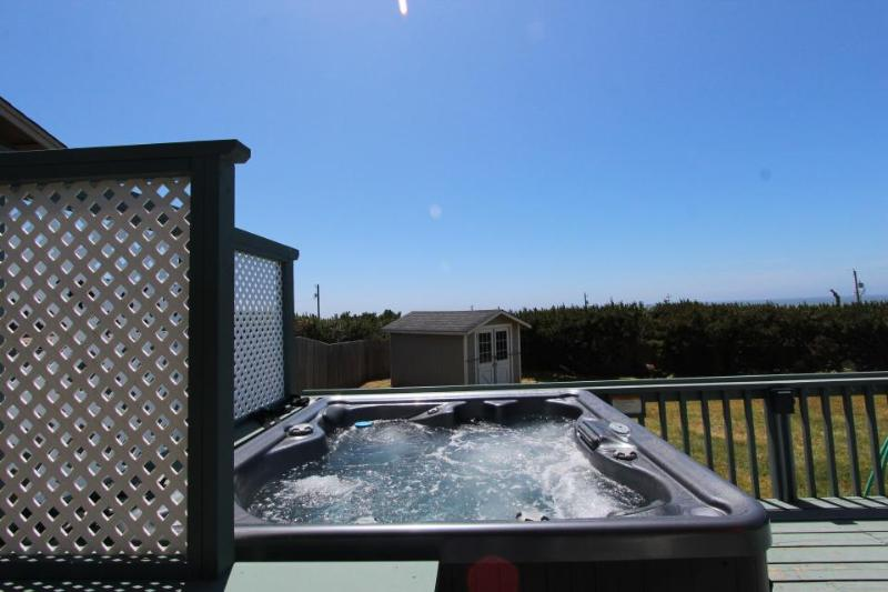 Dog-friendly cottage with beach views, private hot tub, shared pool - Image 1 - Waldport - rentals