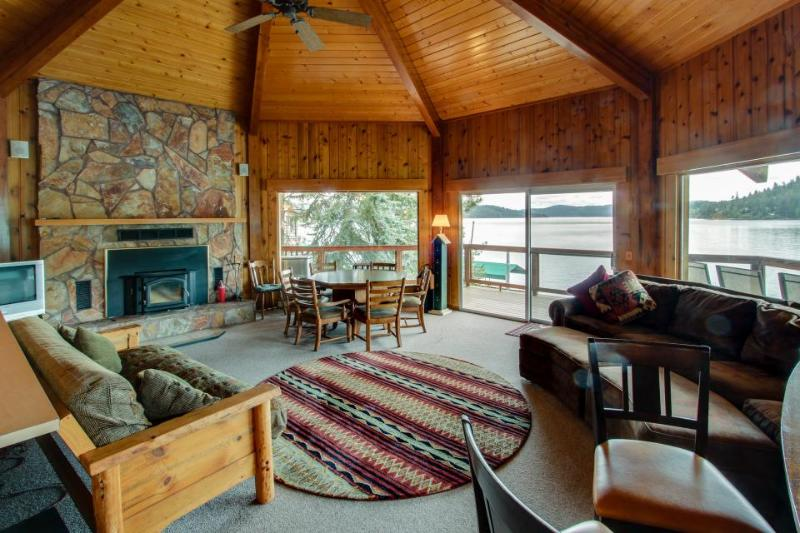 Unique home w/ stunning lakefront views, a wrap-around deck & a private dock! - Image 1 - Harrison - rentals