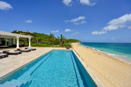 La Vie en Bleu - Gorgeous villa with pool, gym & stunning waterfront location - Image 1 - Terres Basses - rentals