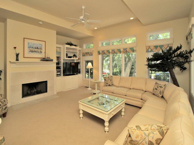 Living Room with Flat Screen at 4 Ginger Beer Court - 4 Ginger Beer Court - Palmetto Dunes - rentals