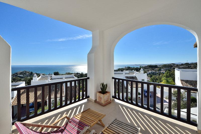 Villa - Terrace from Master Bedroom - view to South West  - Villa Azotea with Apartment - Benalmadena - rentals