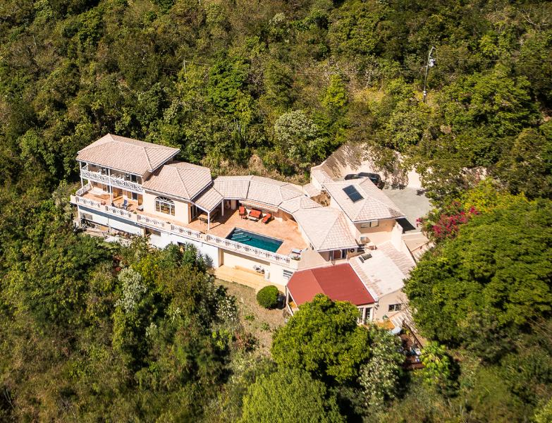 Aerial view of Summer Heights - A perfect & affordable choice for large groups. - Tortola - rentals